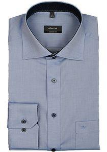 Eterna Comfort Fit Hemd Langarm Uni Oxford Mittelblau 8100/12/E137, Größe: 40