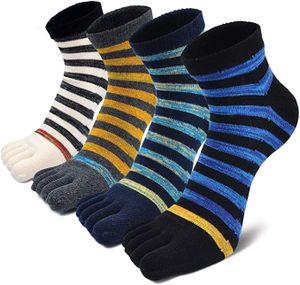 Herren Zehensocken Baumwolle Männer Fünf Finger Socken Sport Laufende Socken mit Zehen, EU 39-44, 3 Paare Zufälliger Stil