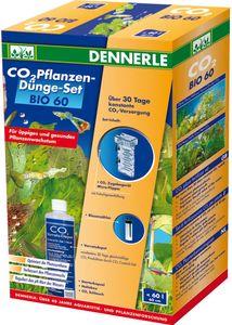 Dennerle 300860 Komplett-Set |C02 Düngeanlage für Aquarien bis 60 Liter | mit Blasenzähler und Flipper