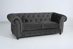Max Winzer Orleans Sofa 2,5-Sitzer - Farbe: anthrazit - Maße: 216 cm x 100 cm x 77 cm; 2911-3000-2044214-F07