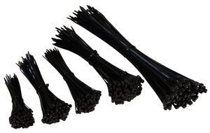 Kabelbinder Set McPower, 500er-Pack, schwarz, 5 Größen 100/140/160/200/300mm