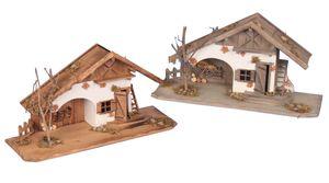 Holzhaus 55 cm Haus Krippe Landhaus  Holz