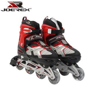 Inliner Joerex verstellbar Gr. 31-34 ABEC7 Rot Hockey Skates Speedskates Kinder