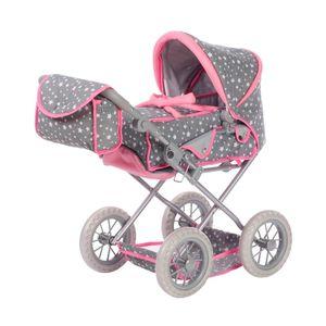 Knorrtoys Ruby, Puppen-Kinderwagen, Grau, Pink, 1 Sitz(e), Kinder, Junge/Mädchen, 40 cm