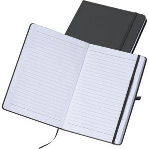 Notizbuch / DIN A5 / 160 Seiten / liniert / PolyurethanHardcover / Farbe: schwarz
