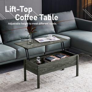 Couchtisch mit Höhenverstellbarer Platte Kaffeetisch ausziehbarer Wohnzimmertisch Sofatisch für Wohnzimmer, Büro