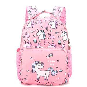Kindergarten Einhorn Mädchen Kinder Schultaschen Buch Rucksäcke 2-5 Jahre alt -Pink