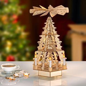 LED-Weihnachtspyramide aus Holz