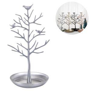 Vögel Schmuckständer Kettenständer Baum Armbandständer Schmuckhalter Ohrringhalter Metall Schmuckaufbewahrung Schmuckbaum Damen