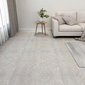 PVC-Fliesen Selbstklebend 55 Stk. Laminat Dielen Bodenbelag | für Wohnzimmer Schlafzimmer Büro 5,11 m² Hellgrau - 14513