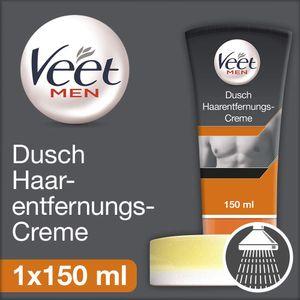Veet for Men Dusch-Haarentfernungs-Creme Power Effect Enthaarungscreme 150ml