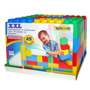Polesie Wader 45-teiliges Bauklötzchen Set XXL 1450501