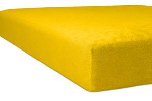 Kneer - Spannbetttuch - *Qualität 10* Flausch-Frottee - Farbe:  03 Honig - Größe: 90/190 - 100/200 cm