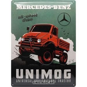 Nostalgic-Art - Blechschild Metallschild 30x40cm - Mercedes-Benz UNIMOG
