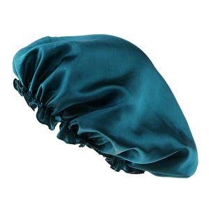 Seide Schlafmütze Nachtmütze Kopfbedeckung Schlafhaube Nacht Mütze Nachtkappe Grün Motorhaubenhut Solide Schlafhut Einheitsgröße: Normal