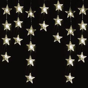 40er LED-Sternenvorhang Innen und Außen warmweiß
