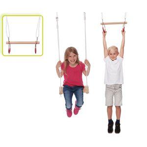Happy People gymnastik/Schaukel Set Holz hellbraun 48 cm
