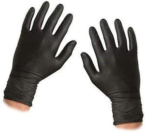 Nitrile Einweghandschuhe - Größe XL - texturiert - pulverfrei und latexfrei - 100 Handschuhe (50 Paare)(Zufällige Farben)