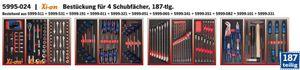 Projahn Bestückung für 4 Schubladen 187tlg Bestückung für 4 Schubladen 187tlg 5995-024