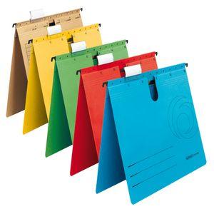 5 Herlitz Hängehefter / DIN A4 / Kraftkarton 230g/m² / 5 verschiedene Farben