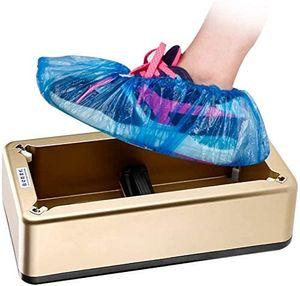 Automatische Schuhabdeckspender Schuhüberzug Maschine Shoe Cover Dispenser Maschine mit 200 Einweg Schuhabdeckung für Medizin, Zuhause, Geschäft und Büro