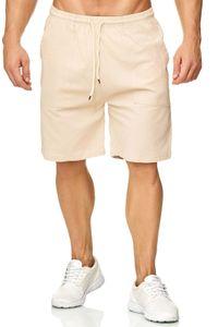Herren Shorts Loose Fit Bermuda Pants Kurze Sommer Hose leicht, Farben:Beige, Größe Shorts:XL