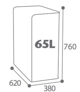 CUBATRI Abfalleimer 65L mit passgenauer Öffnung für Abfalltrennung von Rossignol, Farbe:Gelb