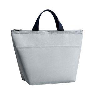 Lunchpaket Isolierte Lunchbox Thermokühler Lunchtasche Lunchbag Lunchpaket Picknicktasche Tragbar Grau