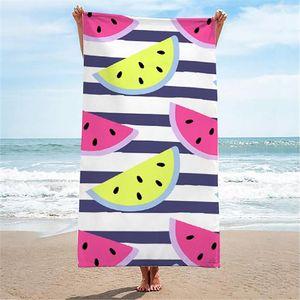 Premium Saunatuch Strandtuch Handtuch Badetuch Waschlappen Gästetuch Duschtuch 150x70cm Bunte Wassermelonen