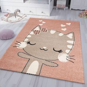 kinderzimmer kinderteppich Flauschiger Baby Teppich Glückliches Kätzchen Katze Kinder- Jugendzimmer, Maße:120x170 cm