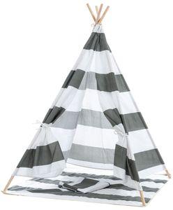 CLP Spielzelt Esna mit Fenster Indoor, Farbe:grau gestreift