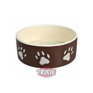 Trixie Keramiknapf mit Pfoten braun/creme Ø 12cm