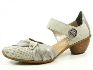 Rieker 43721 Schuhe Sandalen Damen Pumps , Größe:40 EU, Farbe:Grau