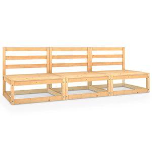 Neues Produkt Gartensofa 3-Sitzer Outdoor-Lounge-Bett Gartenbank Kiefer Massivholz
