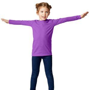 dressforfun Langarm-Shirt Kinder - lila, 104 (3-4 Jahre)