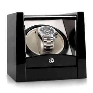 Klarstein Cannes Uhrenbeweger Uhrendreher Uhrenbox Uhrenkasten , für 1 Uhr , Pianolack , schwarz