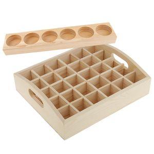 2 Stück Handarbeit Holz ätherisches Öl Aufbewahrungsboxen Vitrinen Organizer