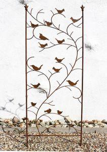 DanDiBo Rankhilfe mit Vögel 120705 Rankgitter aus Metall H-150 cm B-50 cm Kletterhilfe