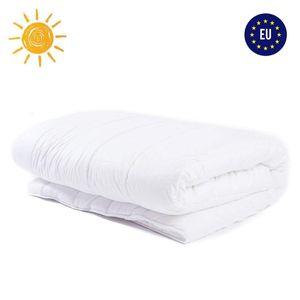 Bettdecke 135x200 Sommerdecke Steppdecken Schlafdecke für Sommer Steppbettdecke für Allergiker hypoallergen Microfaser 135 x 200 weiß