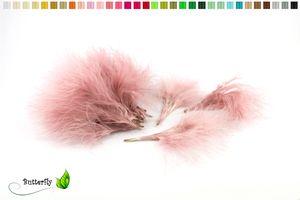20 Marabu FLAUM Federn ca. 7-10cm, Farbauswahl:altrosa 158