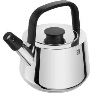 ZWILLING Wasserkessel Induktion 1,5 l Flötenkessel Edelstahl Teekessel Silber