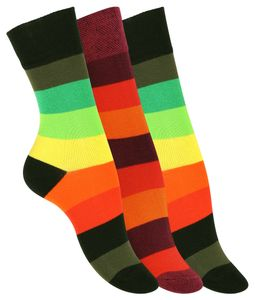 VCA® Socken 3 Paar, mit Blockstreifen 39-42