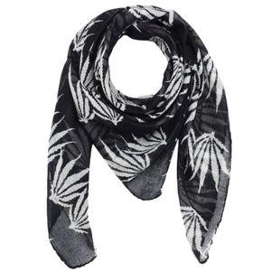 Baumwolltuch - Hanfblatt groß - quadratisches Tuch