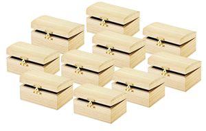 VBS Schatztruhe ohne Gravur 10 Stück Truhe Kästchen Schatzkiste Holztruhe