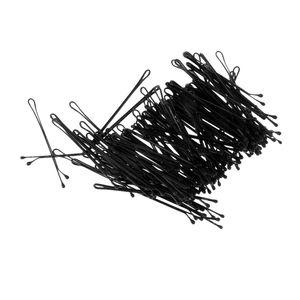100pcs Schwarz Plattiert Flat Top Haar Haarnadeln 55mm