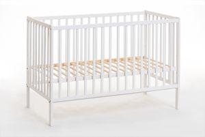 Babybett CYPI II 60 x 120 cm, weiße Matte