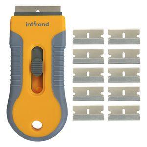 int!rend Premium Ceranfeldschaber mit 11 Klingen - verbesserte Schutzfunktion zur sicheren und einfachen Reinigung von Cerankochfeld   Version 2018