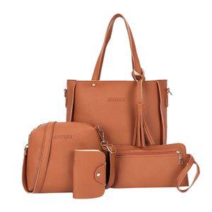 Vierteiliger Anzug Mit Fransen Für Die Handtasche Brown Farbe Braun