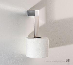 Toilettenrollenhalter, Ersatzrollenhalter, Wandhalter, Edelstahl