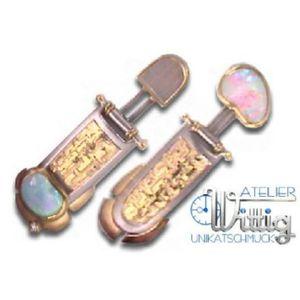 Ohrhänger - Feingold Palladium - Brillant - Opal